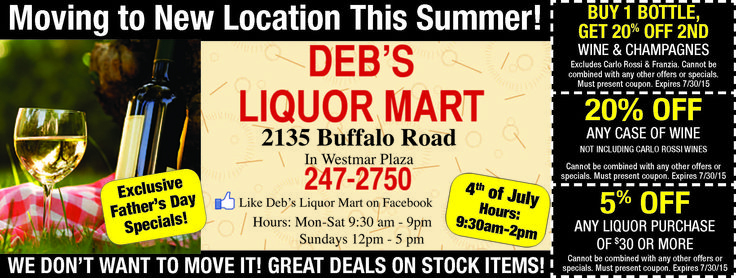 Alcohol coupons