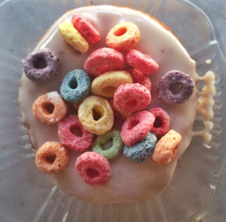 Donut 12: Froot Loop Vanilla Glazed from Holey Cream | Here's What Happens When You Try To Eat 12 Donuts From 12 Donut Shops In One Morning