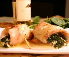 Tilapia Stuffed with Spinach & Feta -- Made this tonight and it was delicious. Added some cream cheese to the mixture and coated everything in panko. SO GOOD.