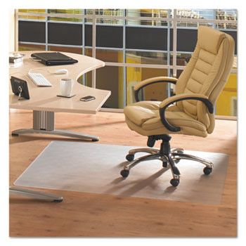 Cleartex Advantagemat Phthalate Free Pvc Chair Mat For Hard Floors, 53 X 45