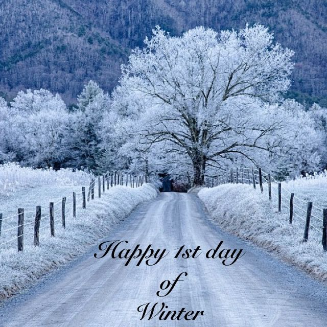 Happy 1st day of Winter