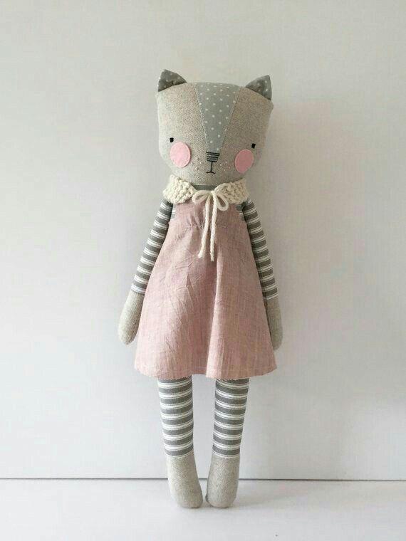 Adorable stuffed cat