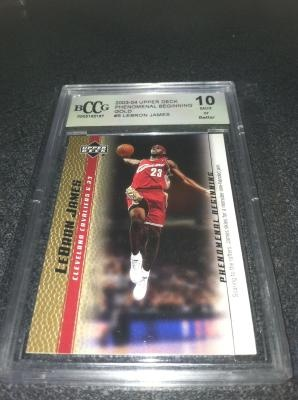 LeBron James - Rookie Year Card 2003-04 UD GOLD *GRADED 10* MINT FINALS MVP 2012 - NBA Championships