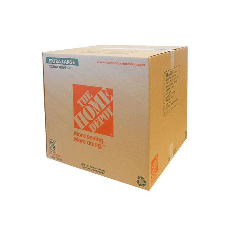 The Home Depot 22 in. x 22 in. x 21 in. 65 lb. Extra Large Moving Box-1001015 - The Home Depot