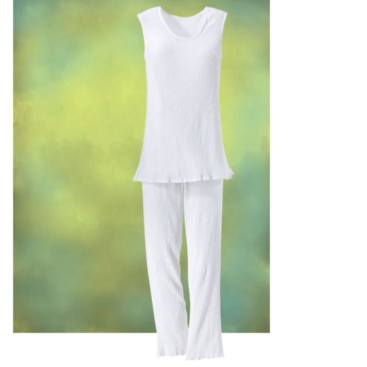 White Cotton Pants Set - Women's Clothing & Symbolic Jewelry – Sexy…