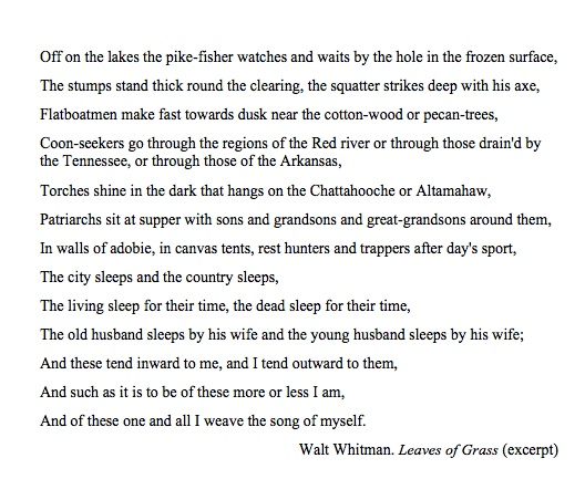 an analysis of leaves of grass by walt whitman Great american poet and humanist walt whitman set a sales record at christie's  with a first edition of leaves of grass.