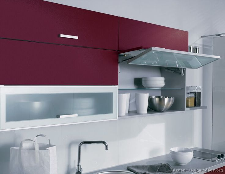 Natural Kitchen Design Cabinets Modern Red A Bi Fold Lift Door Via