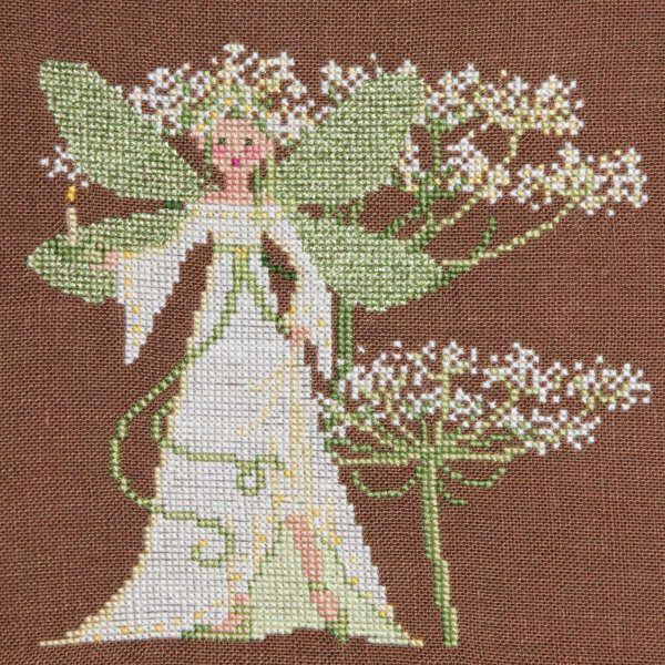 Sylvie Teytaud Fée des ombelles cross stitch fairy