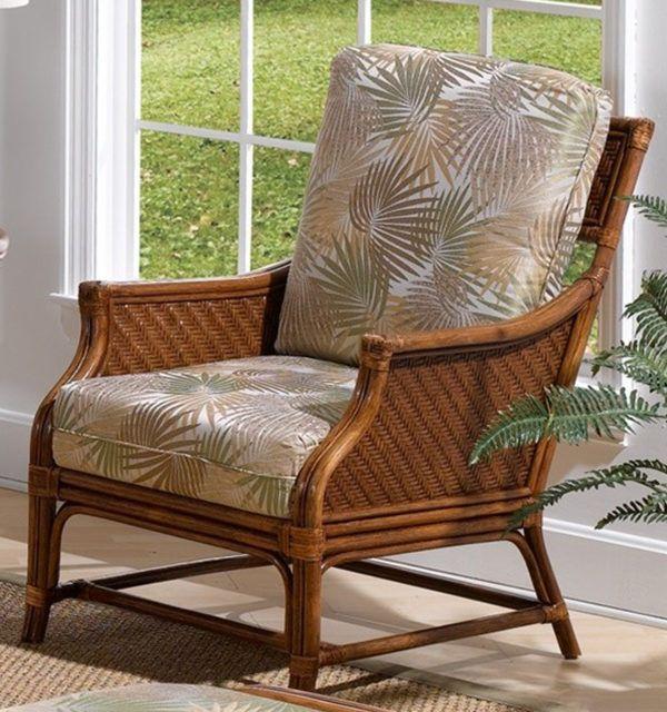 Edgewater Rattan Wicker Lounge Chair From Classic Rattan Model