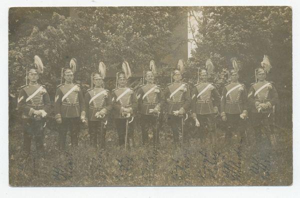 Insterburg, Stadt, Kaserne, Walter Rosummek (rechts außen)