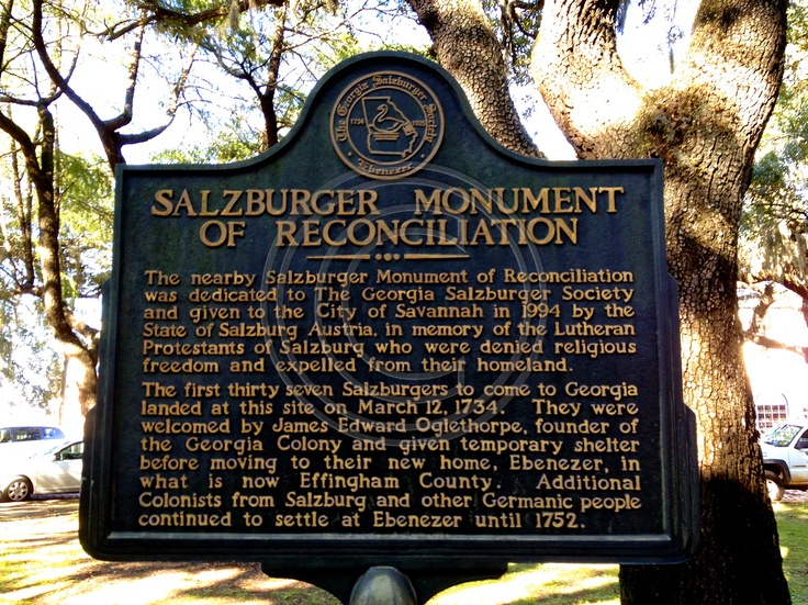 Image result for salzburger in georgia USA