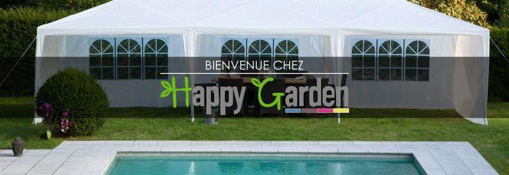 Bienvenue chez Happy Garden #jardin #mobilier #meubles #trampoline #enfant #parasol #tente #réception #jeux #été