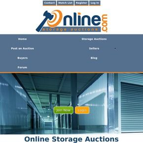 Online Storage Auctions ℠ is a free service where anyone can buy or sell self-storage units. Home of the web's largest storage auction forum & blog.