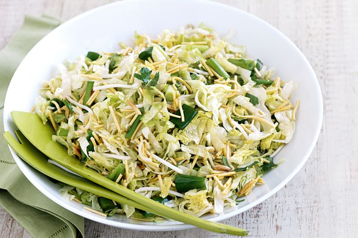 This side salad recipe is just the tip of the iceburg using lettuce and fried noodles.