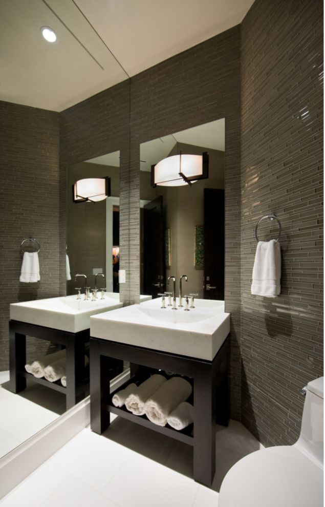 This sleek striking bathroom was completed by Cross Design Group luxeFL  Luxe  Bath