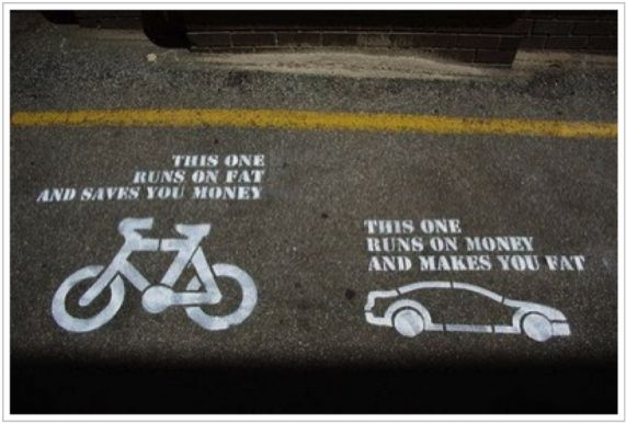 Well, if you put it that way: Bicycles, Riding A Bike, Street Art Utopia, Cars, Truths Hurt, Interval Training, True Stories, Tell The Truths, Streetart