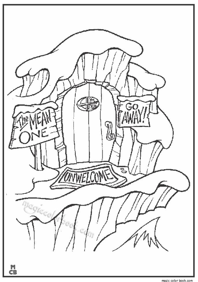 The Grinch That Stole Christmas Coloring Pages Free