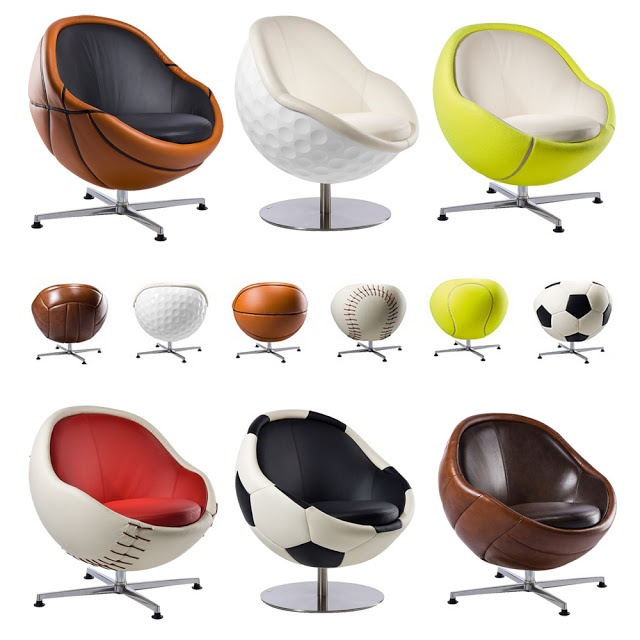 If Its Hip, Its Here: For The True Armchair Athlete. VIP Sports Lounges & Ottomans By Paolo Lillus.