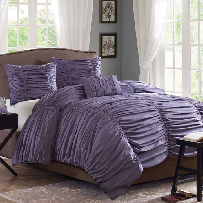 The Plum Purple Duvet Comforter is to die for! Love