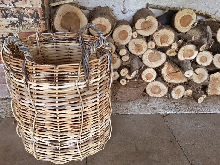 Each of these extra strong wicker baskets are made from waste rattan vines
