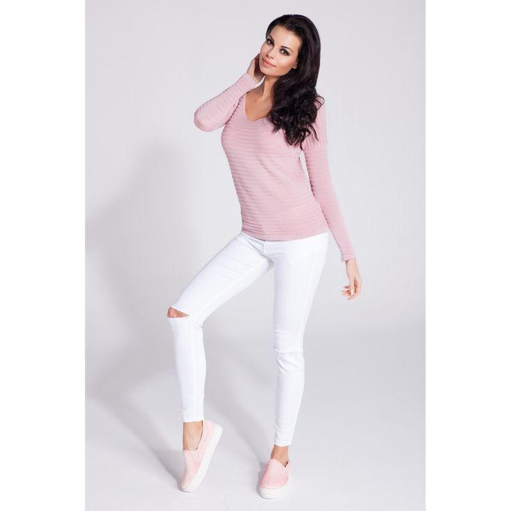 Bluza de dama casual-sport roz   #bluzetricotatedama