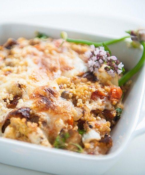 Quinoa frittata met courgette, aubergine en parmezaan | NatureCrops