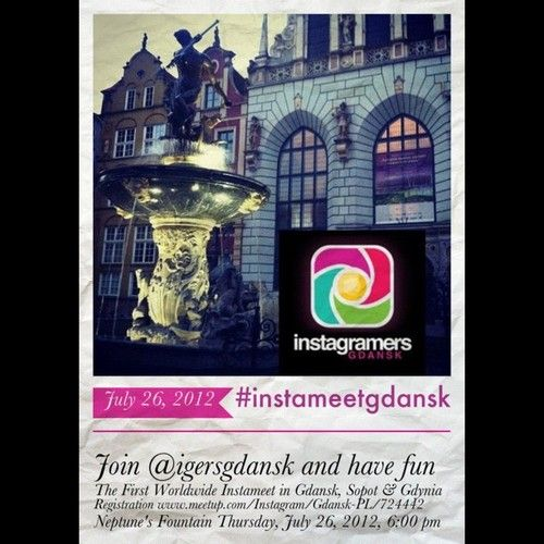 The first Worldwide #Instameet in #Gdansk #Sopot & #Gdynia. Join @igersgdansk and have fun. Registration www.meetup.com/Instagram/Gdansk-PL/724442  (Taken with Instagram at Fontanna Neptuna)
