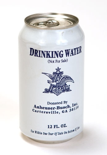 Drinking water donated after Hurricane Katrina by Anheuser-Busch, Inc., manufacturer, 2005, The Historic New Orleans Collection, gift of Mr. and Mrs. Daniel E. Sullivan