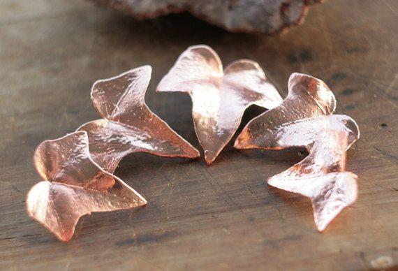 Natural ivy leaves copper electroformed,elven pendant,botanical jewelry,metal leaf pendant, ,electroforming, electroform,elvish elf necklace