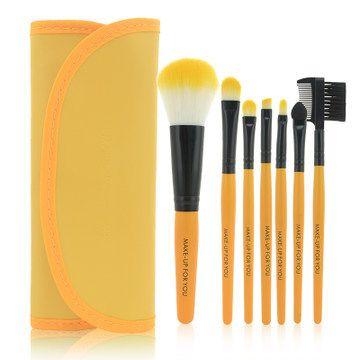 2014 HOT !! Profesionálne 7 ks Makeup Brush Set náradia Doplní Toaletný súprava z ovčej vlny značky Make Up Brush Set Case doprava zadarmo Py-inMakeup Kefy & Tools z Beauty & Health o Aliexpress.com | Alibaba Group