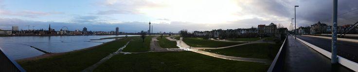Panorama Rheinufer Düsseldorf Herbst / Winter 2014