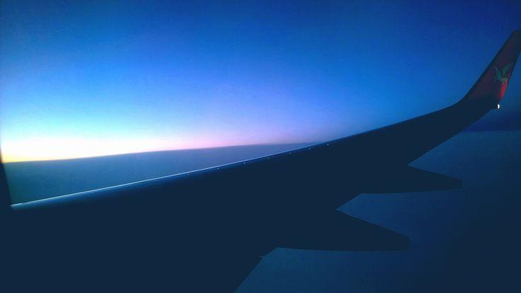 Horizon,Flight,Sunset,Sky