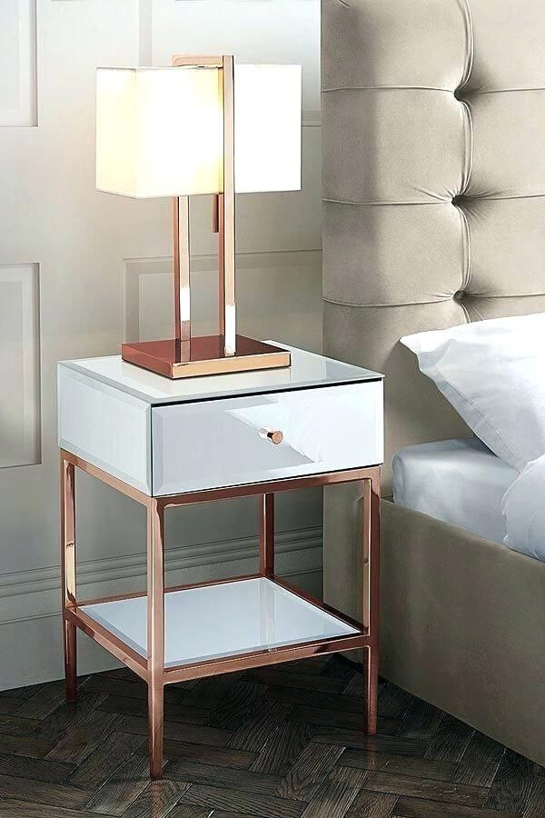 Glorious Rose Gold Nightstand Lamp Figures Beautiful Rose Gold