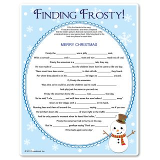 Winter scavenger hunt for kids 10+. Teams must fill in the blanks AND find the hidden picture clue for each word they fill in. Kids Christmas games and winter games from Funsational.com