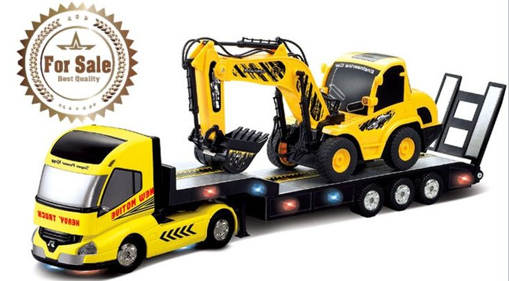 2PCS Radio Remote Control Toy Set 6CH Monster Heavy Truck Trailer Excavator RTR #Unbranded