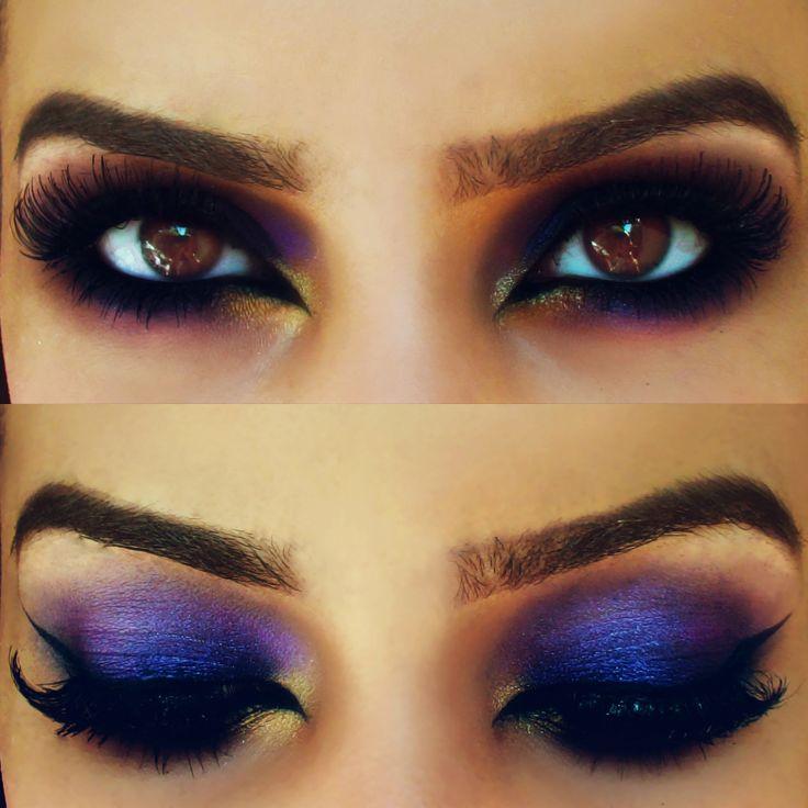 Sexy Purple Arabic Makeup look