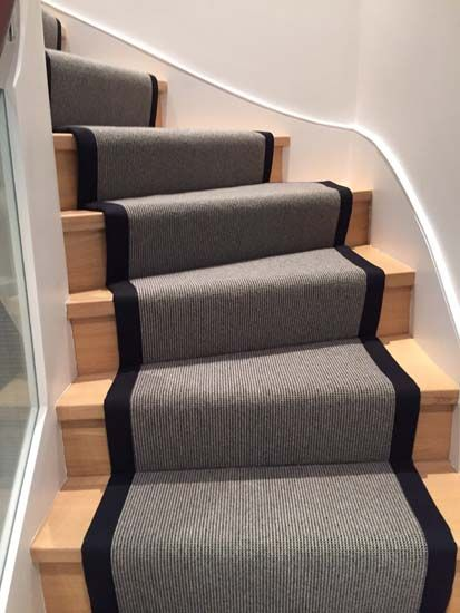 Client: Private Residence In North London Brief: To Supply U0026 Install Grey Stair  Carpet