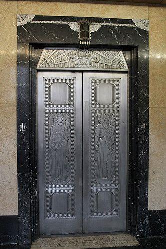 Elevator Doors Times Star Building. Cincinnati