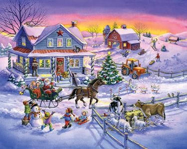 Countryside Christmas Jigsaw Puzzle | What's New | Vermont Christmas Co. VT Holiday Gift Shop
