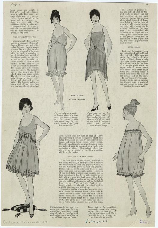 [Women's lingerie, 1910s.] (1917)