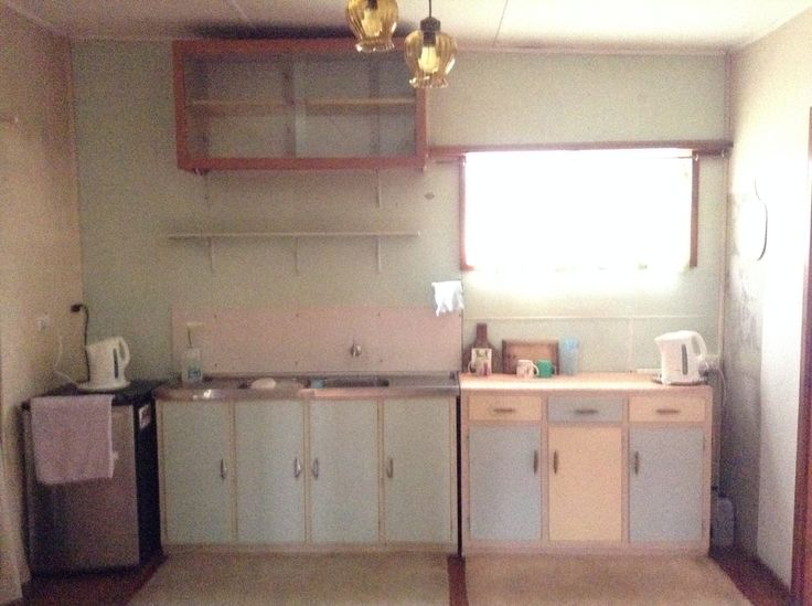 The kitchen before .... Note that there is only one tap in the kitchen. There was no hot water for over 50 years!!!