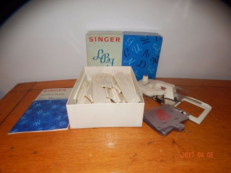 nt1080) Singer Deluxe Monogrammer +26 Guides & Matching Cams 171276 #Singer