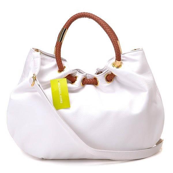 Michael Kors Skorpios Ring Bag White