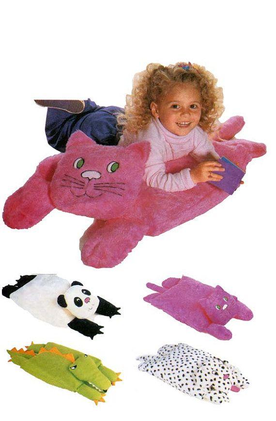 1990s Child's Animal Floor Pillow Pals by DesignRewindFashions, $8.00