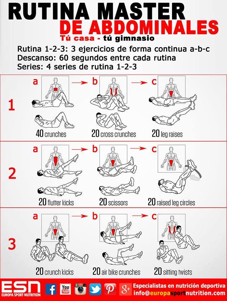 17 mejores imágenes sobre Ejercicios para abdominales en