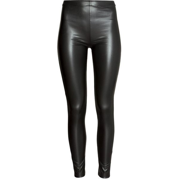 H&M Leggings (£15) ❤ liked on Polyvore featuring pants, leggings, black, bottoms, elastic waist pants, h&m pants, elastic waistband pants, stretch waist pants and legging pants
