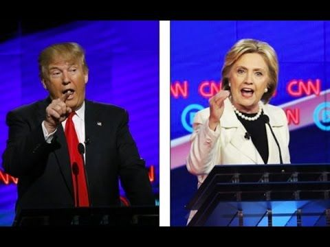 CNN live streaming.  Donald trump and Hilary Clinton Talk