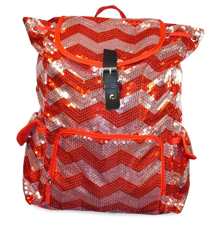N. Gil Sequin Chevron Collection Backpack School Bag * See this great image  : Christmas Luggage and Travel Gear