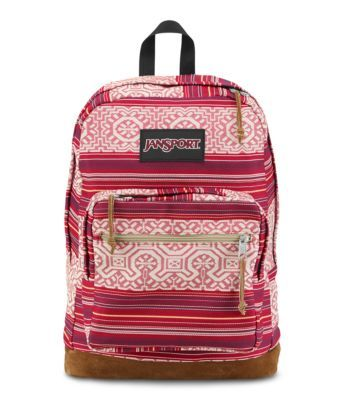 The Right Pack World Collection takes you to Africa, China, Japan, Mexico and Brazil, with colorful fabrics and patterns inspired by each culture. Each backpack features the iconic Right Pack suede leather bottom and internal 15 inch laptop sleeve.