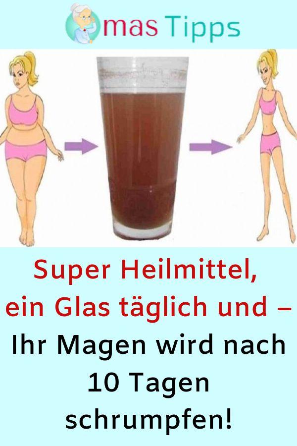 Super Heilmittel, ein Glas täglich und – Ihr Magen wird nach 10 Tagen schrump…